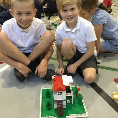 Lego Town building